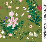 seamless floral trendy pattern... | Shutterstock .eps vector #1187737381