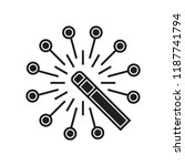 magic wand icon vector isolated ... | Shutterstock .eps vector #1187741794