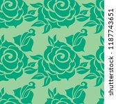 vector seamless floral pattern... | Shutterstock .eps vector #1187743651