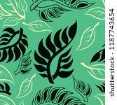 vector seamless floral pattern... | Shutterstock .eps vector #1187743654