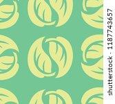 vector seamless floral pattern... | Shutterstock .eps vector #1187743657