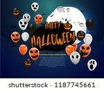 halloween carnival background ... | Shutterstock .eps vector #1187745661