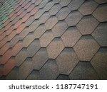 tilt close up photo of roof... | Shutterstock . vector #1187747191
