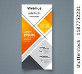 flyer brochure design template... | Shutterstock .eps vector #1187752231
