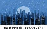 cityscape night. modern city...   Shutterstock .eps vector #1187753674