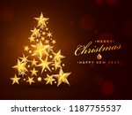 creative xmas tree made by... | Shutterstock .eps vector #1187755537