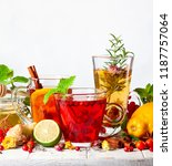 assorted of healthy medical... | Shutterstock . vector #1187757064