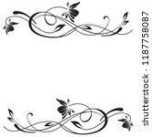 vintage flower decoration for... | Shutterstock .eps vector #1187758087