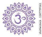 the seventh chakra of man.... | Shutterstock .eps vector #1187759161