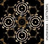 hand drawn decorative frame ... | Shutterstock .eps vector #1187763691