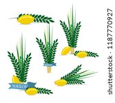 jewish festival of sukkot... | Shutterstock .eps vector #1187770927