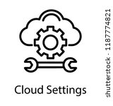 cloud having cogwheel and rench ... | Shutterstock .eps vector #1187774821