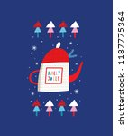 greeting card  holly jolly.... | Shutterstock .eps vector #1187775364