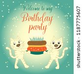 invitation to a birthday party. ... | Shutterstock .eps vector #1187775607