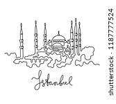 istanbul continuous line... | Shutterstock .eps vector #1187777524