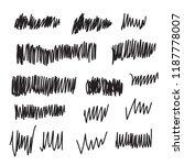vector scribble brush strokes... | Shutterstock .eps vector #1187778007