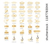 nautical knot icon set. sailing ... | Shutterstock . vector #1187783044