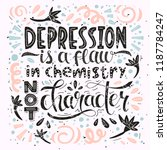 a quote about depression  ... | Shutterstock .eps vector #1187784247