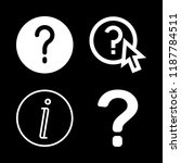 4 faq icons with info and faq... | Shutterstock .eps vector #1187784511
