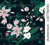 seamless floral pattern with... | Shutterstock .eps vector #1187786581