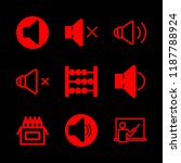 9 learn icons with speaker and... | Shutterstock .eps vector #1187788924