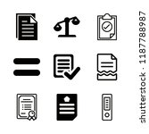 9 legal icons with approve and... | Shutterstock .eps vector #1187788987