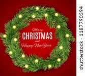 merry christmas and new year... | Shutterstock .eps vector #1187790394