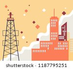 urban landscape with large...   Shutterstock .eps vector #1187795251
