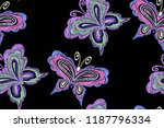 floral seamless background... | Shutterstock .eps vector #1187796334