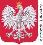 coat of arms of poland   Shutterstock .eps vector #1187798764