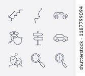 outline 9 street icon set....   Shutterstock .eps vector #1187799094
