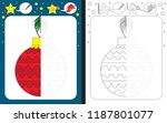 preschool worksheet for...   Shutterstock .eps vector #1187801077