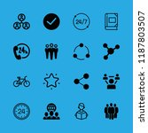 friendship icons set with... | Shutterstock .eps vector #1187803507