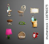 objects around grandma's place  ... | Shutterstock .eps vector #118780375