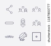 outline 9 two icon set. car... | Shutterstock .eps vector #1187803777