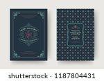 christmas greeting card design... | Shutterstock .eps vector #1187804431