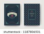 christmas greeting card design... | Shutterstock .eps vector #1187806531