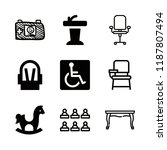 chair icons set with disabled... | Shutterstock .eps vector #1187807494