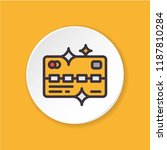 vector flat icon gold vip card. ...
