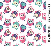 seamless pattern with colorful... | Shutterstock .eps vector #1187811751