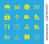 16 tourism icons with cruiser... | Shutterstock .eps vector #1187814427