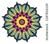 round pattern flower mandala.... | Shutterstock .eps vector #1187816134