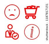 4 customer icons with sad... | Shutterstock .eps vector #1187817151