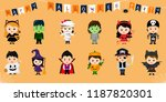mega set of halloween party... | Shutterstock .eps vector #1187820301
