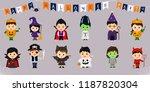 mega set of halloween symbols.... | Shutterstock .eps vector #1187820304