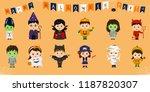 mega set of halloween party... | Shutterstock .eps vector #1187820307