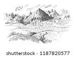 mountains landscape sketch.... | Shutterstock .eps vector #1187820577