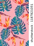 tropical bright pattern with... | Shutterstock .eps vector #1187821051