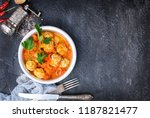 meat balls with tomato sauce... | Shutterstock . vector #1187821477