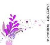 magic wild flowers | Shutterstock .eps vector #1187822914